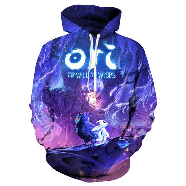 3d Digital Printing Ori The Will Wisps Hoodie Sweatshirt Cosplay Costume Women Men Couple Hood Top Clothing New