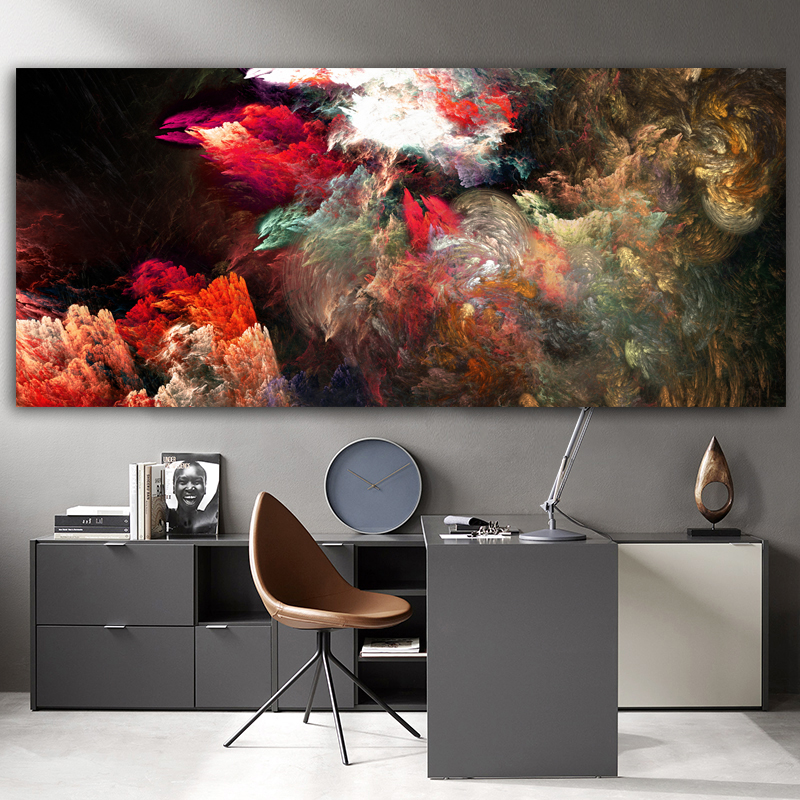 Wangart black color Cloud Abstract Oil Painting Think Independe Wall Picture For Living Room Canvas Modern Art Poster And Print