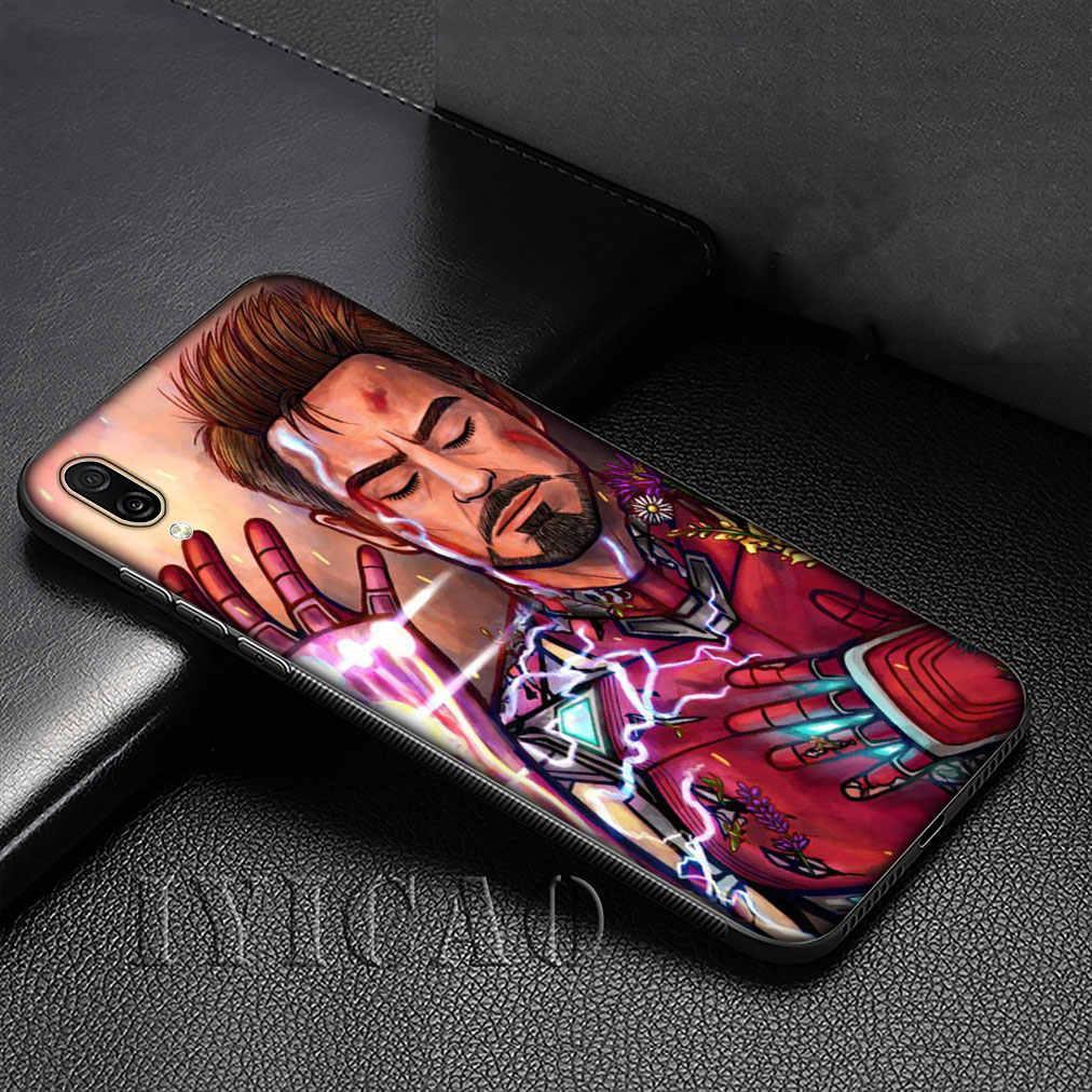 Iron Man Marvel IronMan Molle Del Silicone Della Copertura di Caso per Huawei P30 P20 Pro P10 P9 Lite Mini 2017 2016 P smart Z Più 2019