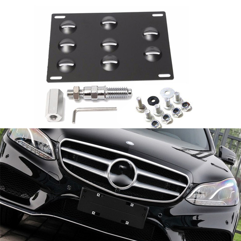 Front Bumper Tow Hole Adapter License Plate Mounting Bracket for BMW Audi Mazda Benz for Mazda