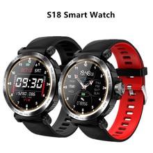 S18 전체 화면 터치 스마트 시계 IP68 방수 남자 스포츠 시계 심박 측정기 IOS 안 드 로이드 전화에 대 한 Smartwatch