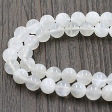 Fashion Natural Moonstone Beads Top Quality White Round Smooth Moon Stone Gem 4 6 8 mm For Making Jewelry DIY Bracelet Necklace(China)