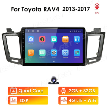 2 din Android 9 car NODVD player for Toyota RAV 4 2013 2014 2015 2016 2017 10.1 Car radio multimedia GPS navigation wifi player image