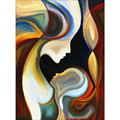 Абстрактная Красочная картина для мамы и сына полная дрель круглая Алмазная вышивка 5D DIY алмазная живопись наклейки для Вышивка крестом FC239