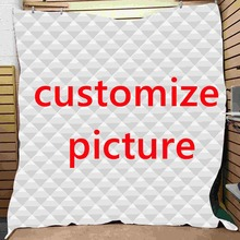 SOFTBATFY Customized Dropshipping 3D Quilt All Season Kids Adults Quilt For Bed Soft Warm Blanket Quilt