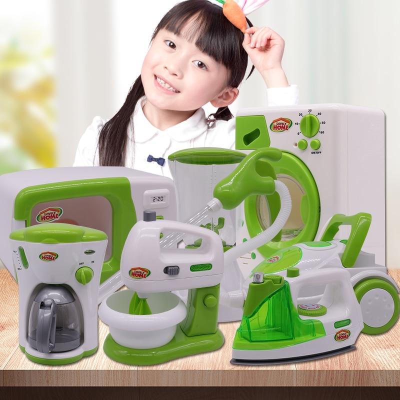 Simulation Kitchen Toys Household Appliances Pretend Play Child Pretend Play Kitchenware Coffee Machine Blender Vacuum Cleaner