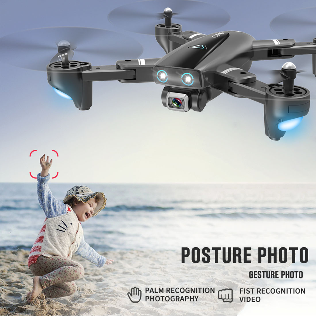 Hot S167 GPS Drone With Camera 5G RC Quadcopter Drone 4K WIFI FPV Foldable Off-Point Flying Gesture Photos Video Helicopter Toy