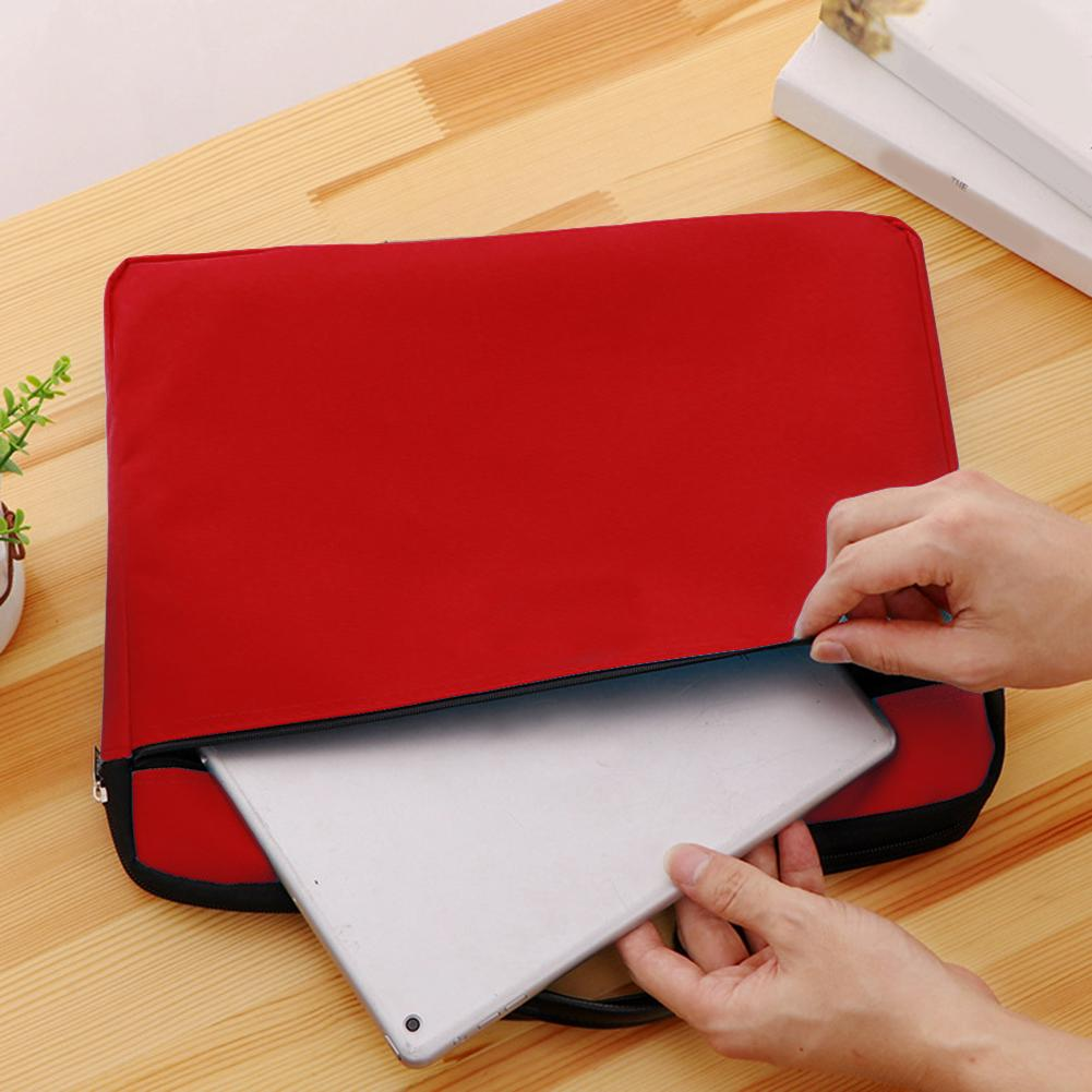 Document Bag Stationery Double Layer With Handle Nylon Organizer Folder School Office Portfolio Portable Zipper File P Ocket