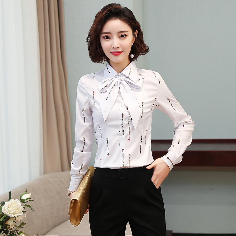 Korean Fashion Chiffon Women Blouses Striped Vintage Long Sleeve Office Lady Shirt and Blouse Plus Size XXXL Womens Tops