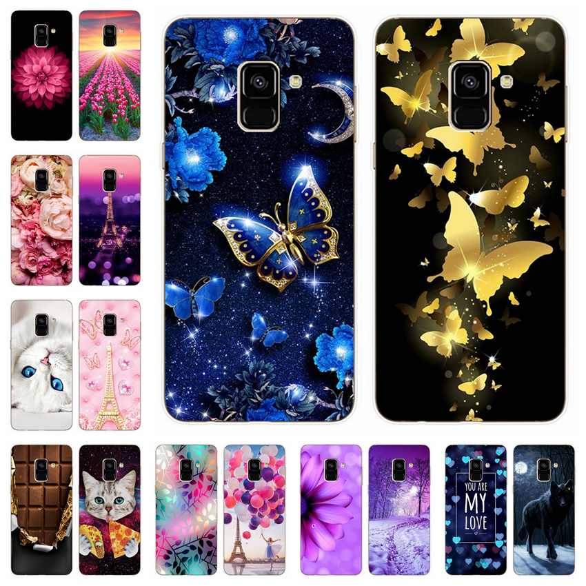 For Samsung <font><b>Galaxy</b></font> A6 A8 <font><b>2018</b></font> Case Soft Silicone Phone Cover Cases for Samsung <font><b>A</b></font> 6 Plus <font><b>8</b></font> <font><b>2018</b></font> A600F A610F A530F Phone Bags image