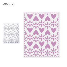 JC Metal Cutting Dies for Scrapbooking Love Heart Mesh Background Craft Embossing Card Make Folder Paper Stencils Template Decor