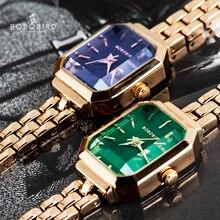 BOBO BIRD reloj de pulsera para mujer, de cuarzo japonés, elegante