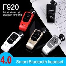 Handsfree Clip Voor Stereo Headset Met Microfoon Draagbare Hoofdtelefoon Hd Oproep Finazul F920 Bluetooth 4.0 Draadloze Intrekbare Headset