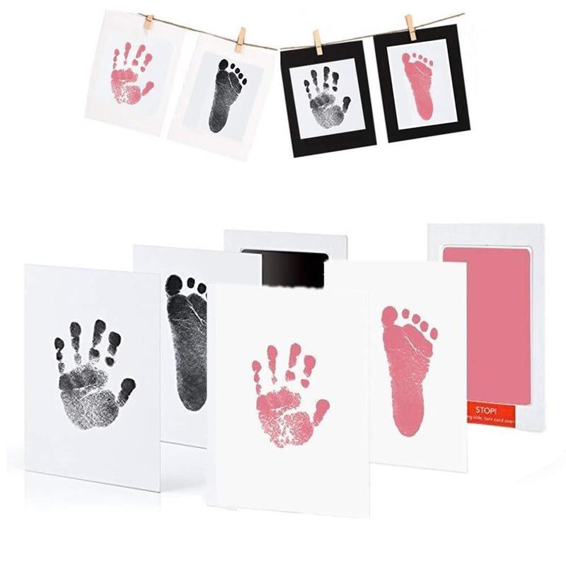 QWZ-Kit de almohadillas de tinta sin contacto para bebés Kit de almohadillas de tinta para bebés de 0 a 6 meses, estampados de perro para recién nacidos