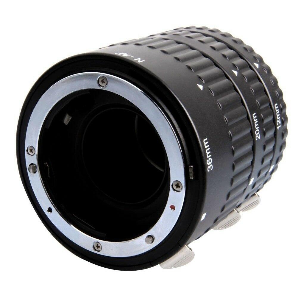 Adaptateur de caméra à Tube d'extension micro-éperon adaptateur de caméra à objectif Macro mise au point automatique DSLR photographie réglable pour Nikon D7100 D800