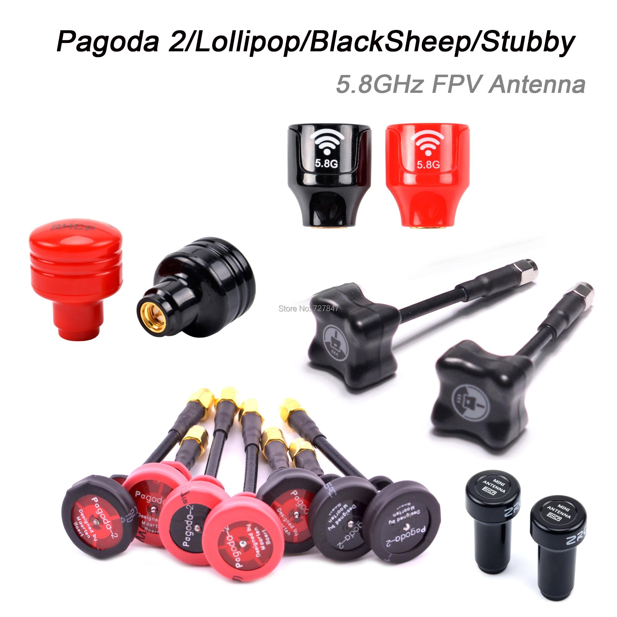 Pagoda 2 / Lollipop / BlackSheep / Stubby 5.8GHz FPV Antenna SMA / RP-SMA / MMCX / UFL Plug For RC FPV Racing Drone Quadcopter