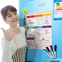 Wipe Whiteboard-Weekly-Planner Magnetic for Notes Calendar Message-Board Fridge Daily
