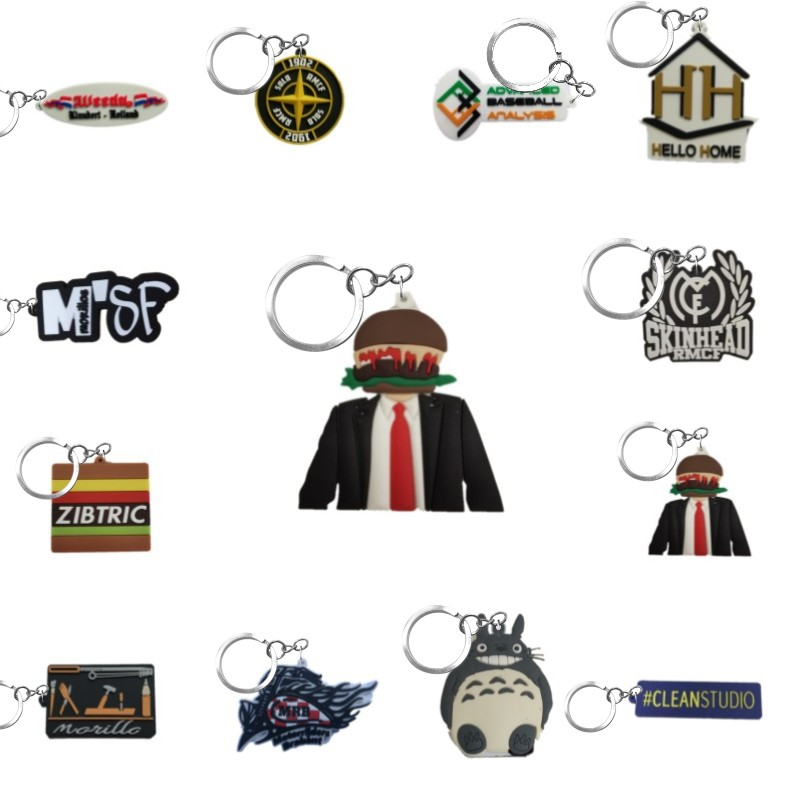 Personalized Custom Soft PVC Keychain Business Logo Customized Well Made PVC Key Chain Your Own Design Key Ring For Wholesale