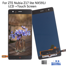 Original LCD For ZTE Nubia Z17 lite NX591J LCD Display Touch screen Digitizer Repair Parts  For Nubia NX591J Screen LCD Display jonsnow full coverage tempered glass for zte nubia z17 lite 5 5 inch protective film for zte nubia m2 lite screen protector