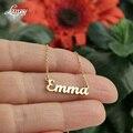 Именное ожерелье из нержавеющей стали 304 Подвеска Ожерелье Эмма подарок матери на Рождество