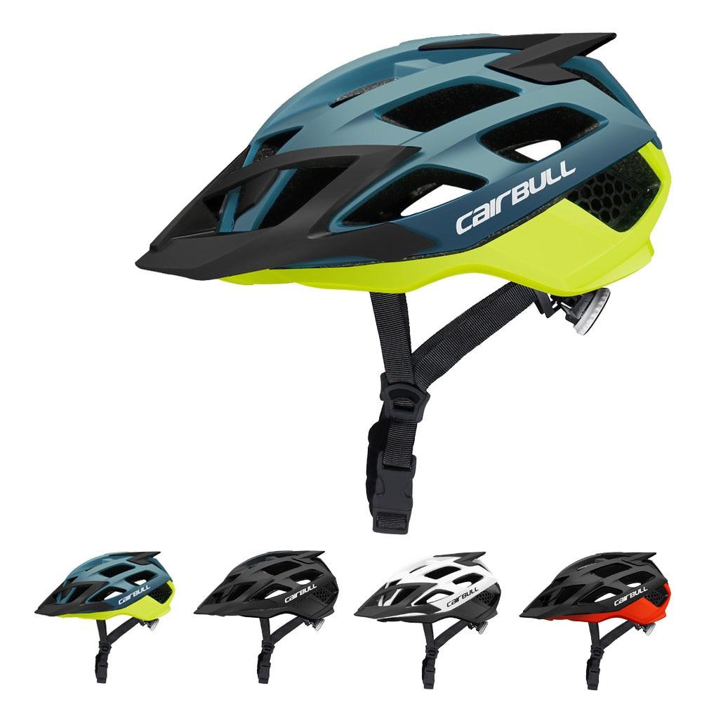 Cairbull для верховой езды Велоспорт шлем с солнцезащитными очками из дышащей ткани-молд дорожный горный велосипед шлем интегрированный MTB Casco ...