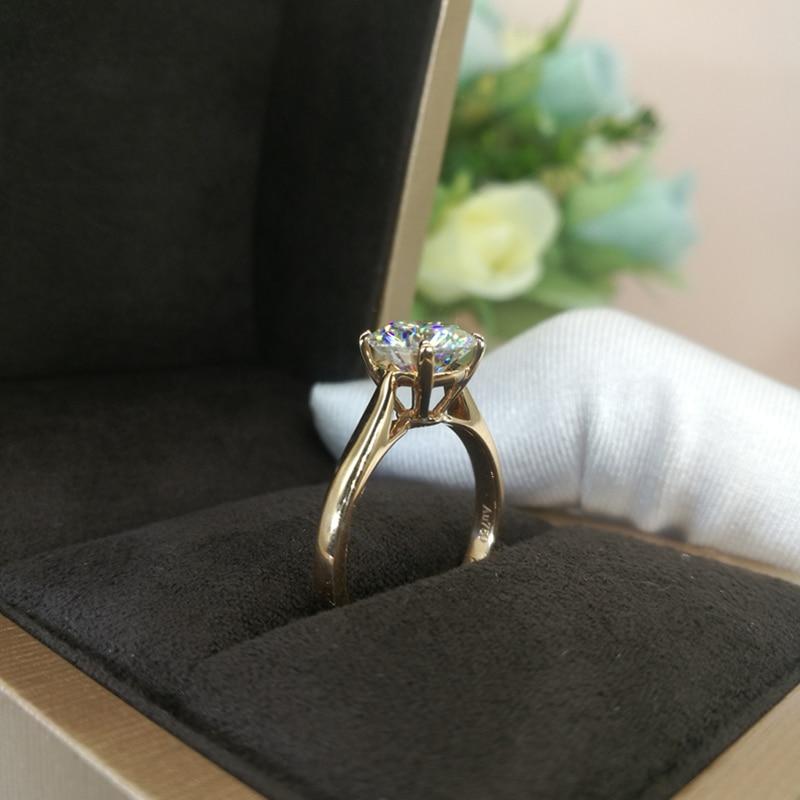 Classic 14K Rose Gold Ring 1ct 2ct 3ct Moissanite Ring Round Cut Lab Diamond Ring Engagement Wedding Anniversary Ring For Women