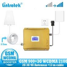Lintratek Nga 900 3G UMTS 2100 WCDMA Tế Bào Tăng Cường Tín Hiệu GSM Repeater 2G 3G 900/2100 MHz Dual ban Nhạc ĐTDĐ Khuếch Đại