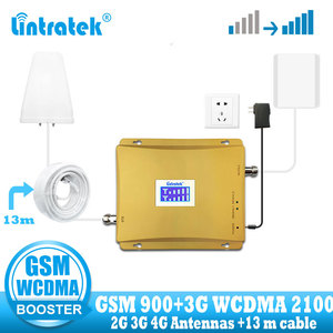 Image 1 - Lintratek Russia 900 3G UMTS 2100 WCDMA Cellular Signal booster GSM repeater 2g 3g 900/2100 Mhz Dual Band Cellphone Amplifier