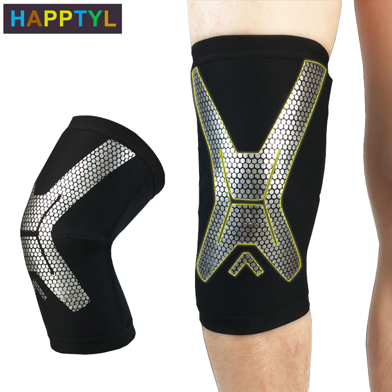 HAPPTYL 1Pcs Knee Brace, Knee Compression Sleeve Support For Running, Arthritis, ACL, Meniscus Tear, Sports, Joint Pain Relief