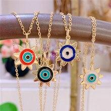10pcs,Women Pendant Necklace,Fashion Jewelry, Pop Charms, Sun Shape , 4 Colrs, Can Wholesale,