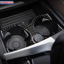 For BMW 5 Series G30 Interior Decoration Carbon Fiber Car Stickers Coaster Storage Mat Trim Covers Styling accessories 2018