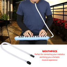 swan 37 keys melodica teaching music fundamentals mouth organ melodica black color musical instruments accordion accessories 32 / 37 Key Melodica Mouthpiece and Flexible Tube Organ Pianica Blowpipe High Quality ABS ABS Light Weight and Soft Durable
