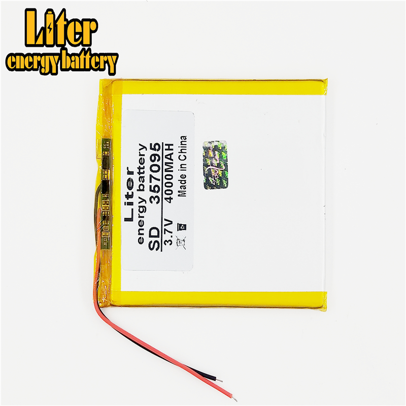 357095 <font><b>3.7V</b></font> <font><b>4000mAh</b></font> <font><b>Lipo</b></font> Lithium <font><b>Battery</b></font> Replacement For MP4 MP5 GPS DVD PAD MID Tablet PC BT Speaker Rechargeable <font><b>Battery</b></font> image