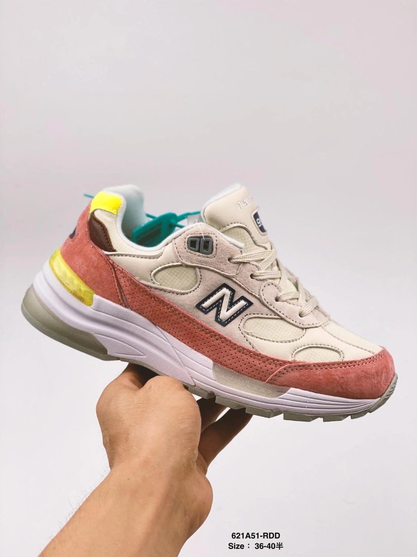 New Balance – chaussures de sport pour femmes, baskets authentiques de couleur Beige/Orange, taille européenne 36-40, 992
