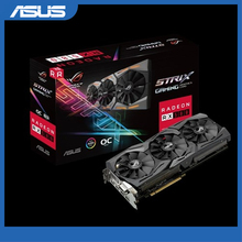 ASUS ROG-STRIX-RX580-O8G-GAMING grafikkarte OC Edition GDDR5 8GB DP HDMI DVI AMD Radeon RX 580 Video Karte
