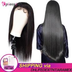 Бразильские Прямые 360 Кружева Закрытие Remy человеческих волос парики 250 плотность HD прозрачный парик бразильский на сшивке предварительно