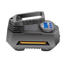 150 Psi 12V Car Air Compressor Portable Car Tire Inflator Pump With Digital Pressure Gauge 120W Bright Emergency Flashlight New