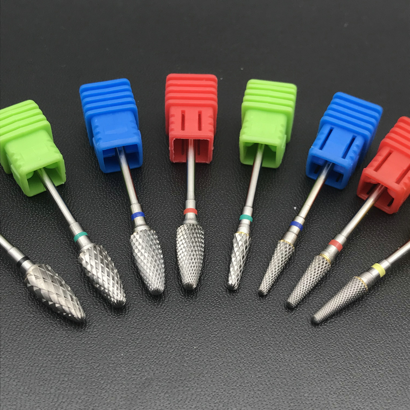 8 Style Choice Tungsten Carbide Nail Drill Bits Machine Nail Cutter Nail File Manicure Carbide Nail Drill Bit&Dental Burs