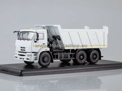 Star Scale Models SSM1250 1/43 KAMAZ-6520 dump truck (facelift) white Diecast for collection