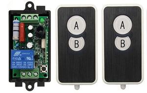 Image 2 - AC 220 V 1 kanal 1CH 10A radyo kontrol RF kablosuz röle uzaktan kumanda anahtarı 315 MHZ 433 MHZ verici + alıcı