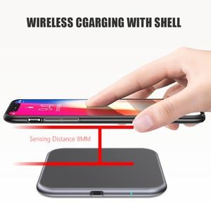 Image 3 - Ультратонкое металлическое квадратное беспроводное быстрое зарядное устройство 15 Вт для iPhone X Samsung Note 10 Huawei Mate 20 Pro Qi, быстрая Беспроводная зарядка