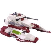 Moc star space wars republic fighter tanque blocos de construção do exército auto-motor anti tanque arma tijolos montar brinquedos