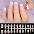 Гроб поддельные ногти Короткие Im пресс французский пресс на ногтях с искусственными губками Autocollant прозрачные пластмассовые накладные ног...