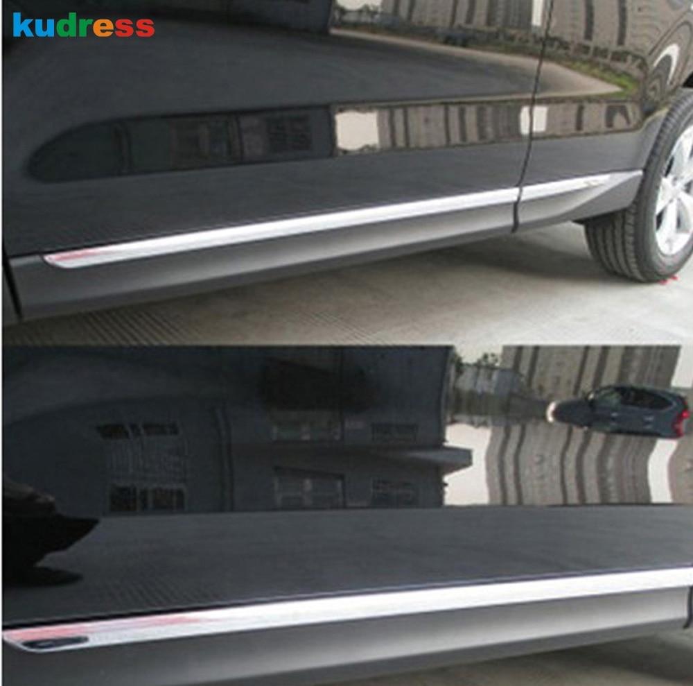 Для Subaru Forester 2013 ABS хромированные боковые ДНА двери кузова под давлением накладка защитный кадров автомобильные аксессуары 4 шт./компл