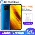 Глобальная версия Xiaomi POCO X3 NFC 6 ГБ 128 Гб Смартфон Snapdragon 732 Octa Core 6,67