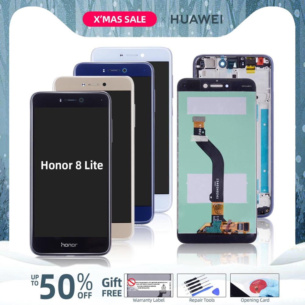 Original LCD For HUAWEI Honor 8 Lite Display Touch Screen For Honor 8 Lite LCD Diaplay With Frame PRA-TL10 PRA LX1 LX3