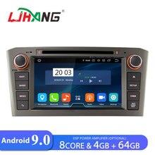 LJHANG автомобильный dvd-плеер Android 9,0 для Toyota AVENSIS 2005 2006 2007 мультимедийный автомобильный Радио 8 ядерный gps wifi автоаудио стерео ips fm