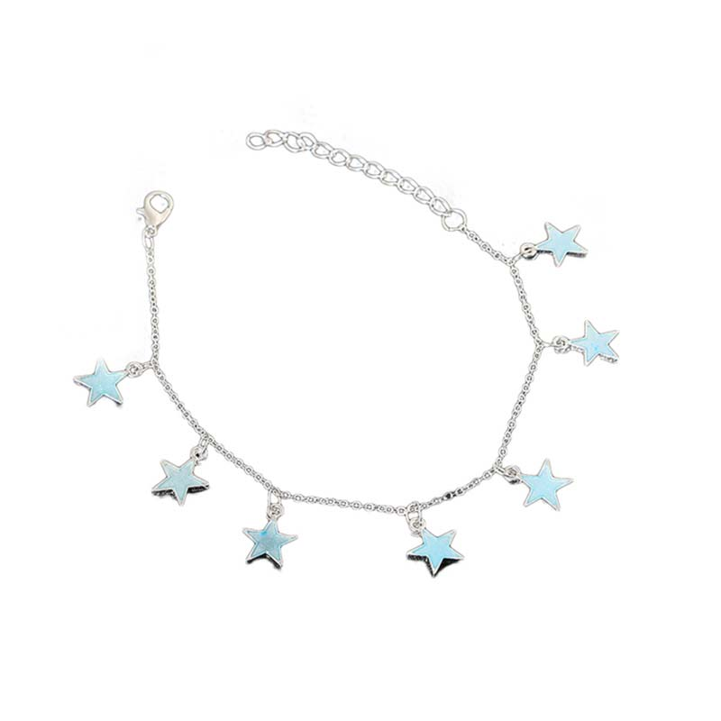 Star Pendant Anklet Foot Chain Summer Yoga Beach Leg Bracelet Charm Anklets Jewelry Gift For Valentine's Day Foot Chain