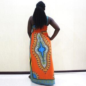 Image 2 - Dashikiage talia przód z rozporkiem sukienka na cienkich ramiączkach elegancka dopasowana, w kwiaty drukuj bez rękawów sukienka jesień nowoczesne Lady kobiety sukienek