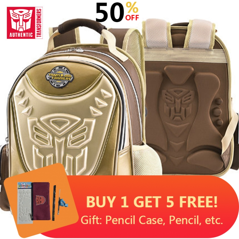 Transformers 2019 Children's Waterproof Backpack 2-6 Years Old SchoolBag For Boy Backpack Children's Bag Kids School Bags